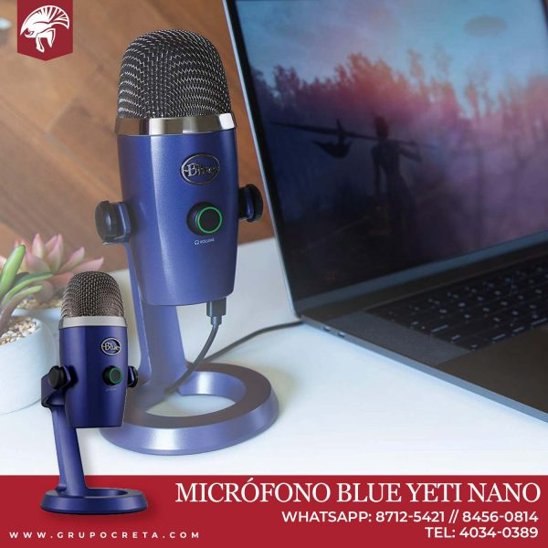 Micrófono Blue Yeti Nano USB Creta Gaming