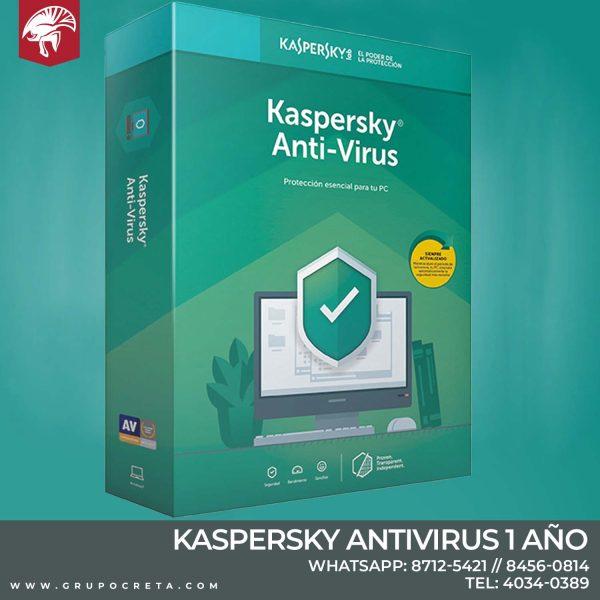 antivirus kaspersky 1 año