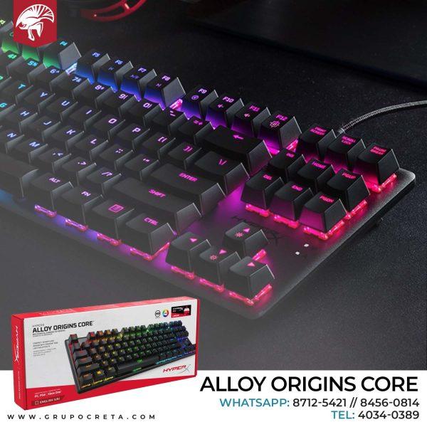 teclado mecánico hyperx alloy origins core creta gaming