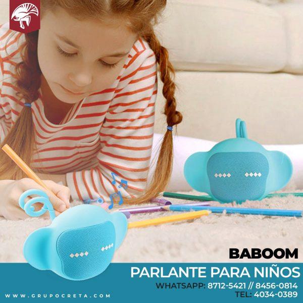 Parlante bluetooth para niños con micrófono Baboom Creta Gaming