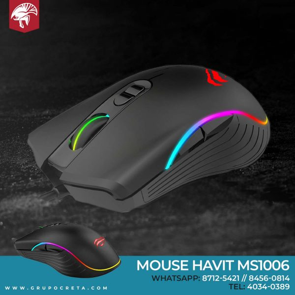 mouse iluminado havit ms1006
