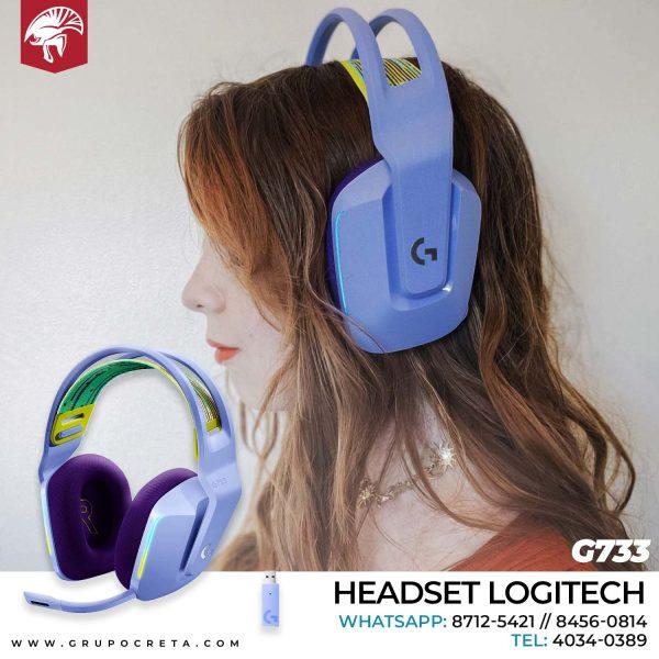 Headset Logitech G733 Lila Creta Gaming