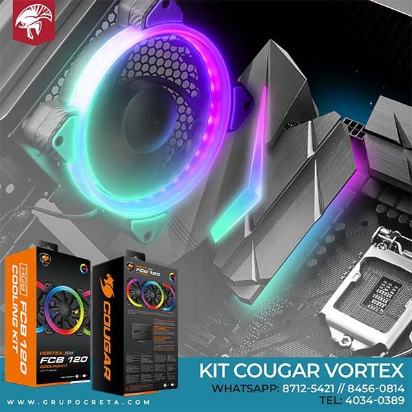 Kit de ventiladores Cougar Vortex RGB