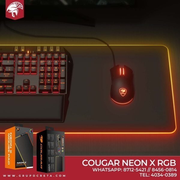 mouse pad cougar neon x rgb