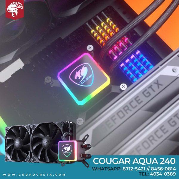 enfriamiento líquido cougar aqua 240