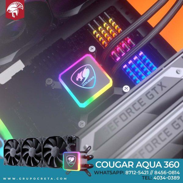 enfriamiento líquido cougar aqua 360