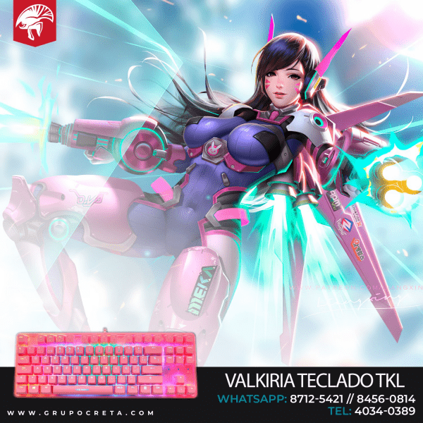 teclado mecánico tkl eagle warrior valkiria
