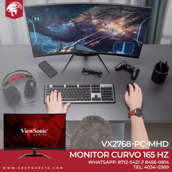 "Monitor Curvo Gaming Viewsonic VX2768-PC-MHD de 27"" 165 Hz"