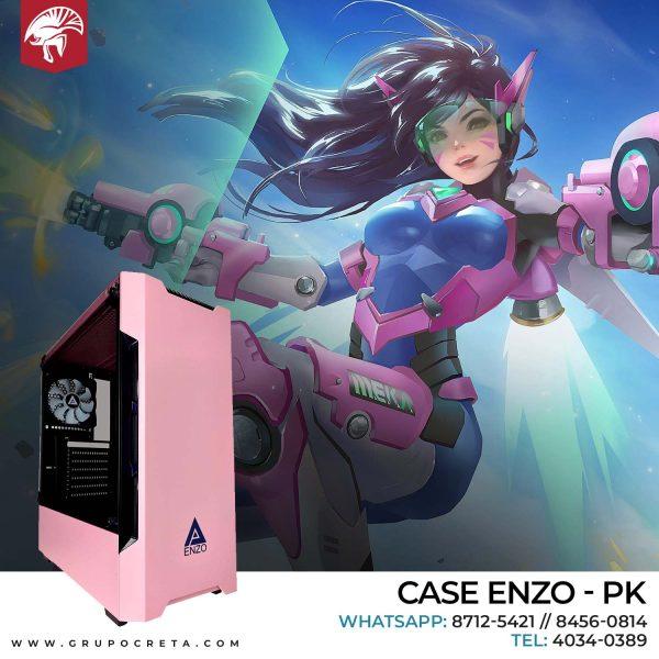 Case Apevia Enzo Rosa Creta Gaming