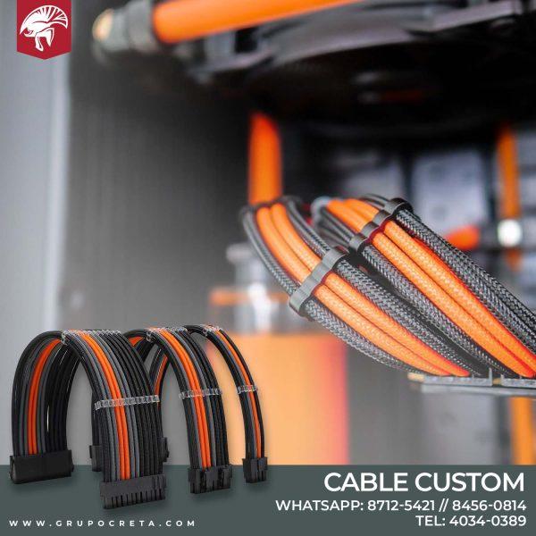 cable custom anaranjado