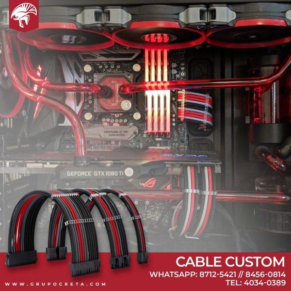 cable custom rojo