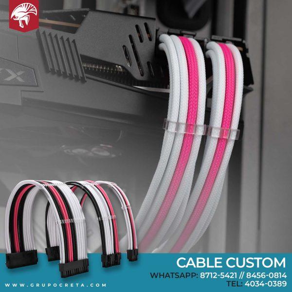 cable custom rosado