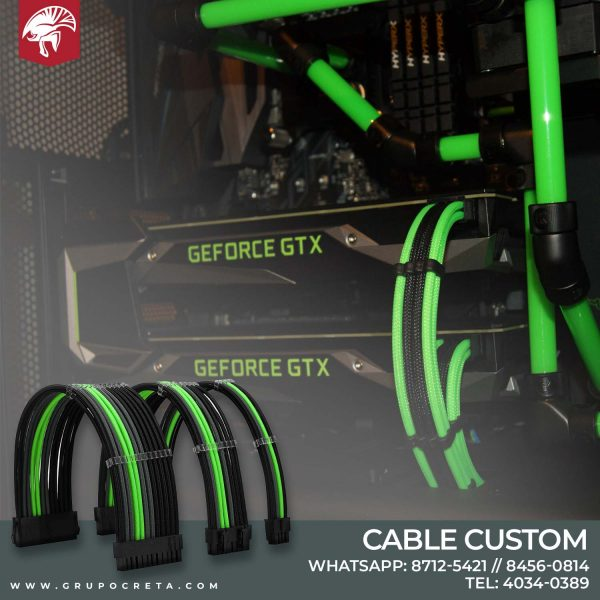 cable custom verde