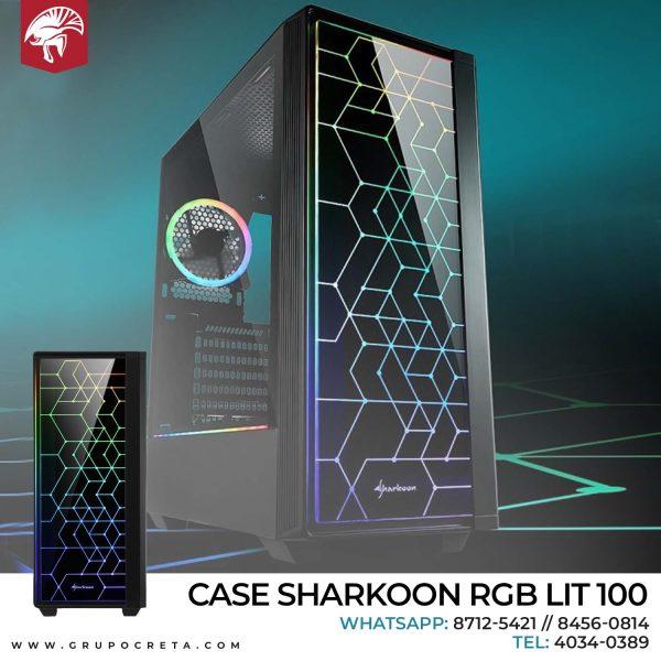 Case Sharkoon RGB LIT 100