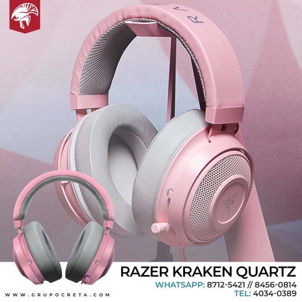 Headset Razer Kraken Quartz Creta Gaming