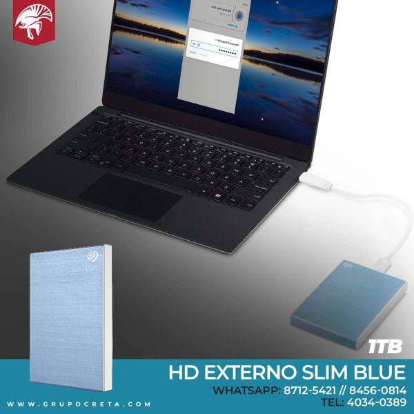 HD Externo Slim Blue 1TB Creta Gaming