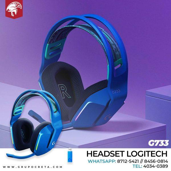 Headset Logitech G733 Azul Creta Gaming