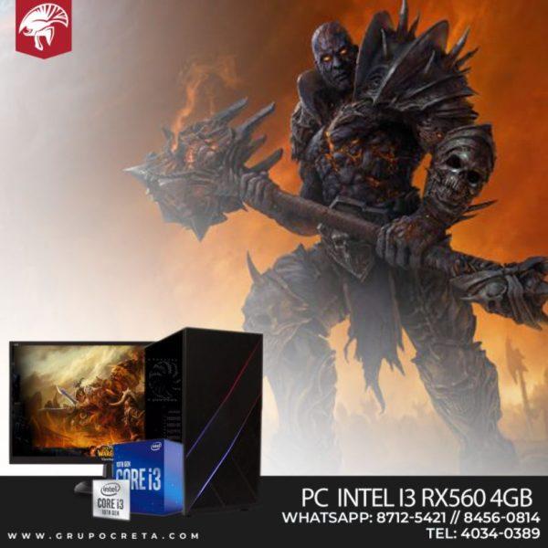 PC Inter I3 RX560 4GB