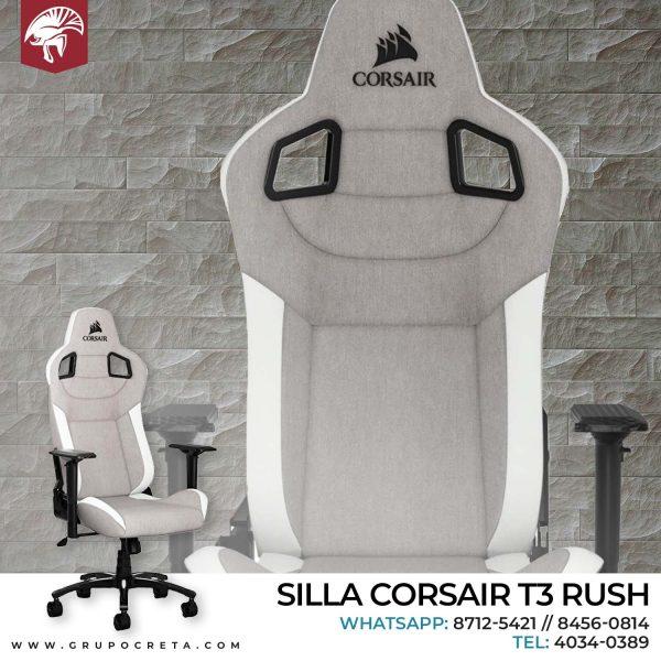 Silla corsaid t3 rush gris con blanco - Creta Gaming