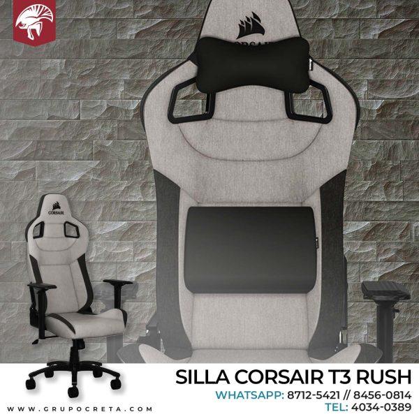 Silla corsaid t3 rush gris con negro - Creta Gaming
