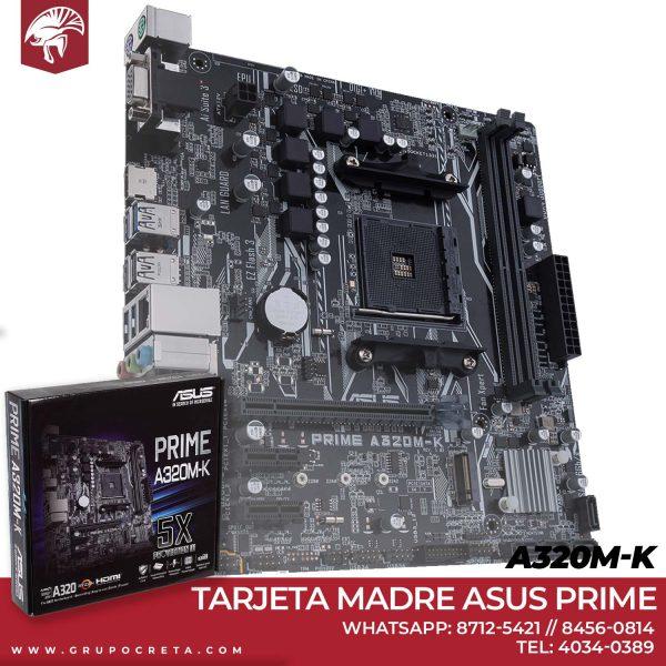 Tarjeta Madre asus Prime a320m-k Creta Gaming