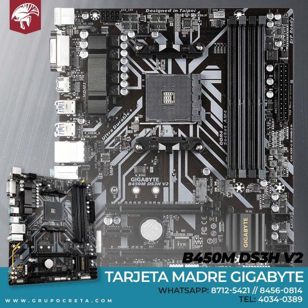 Tarjeta madre gibabyte b450m ds3h v2 Creta Gaming