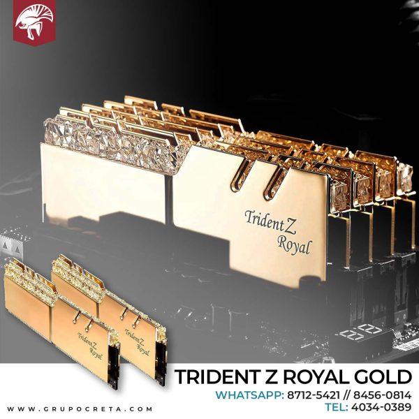 Trident Z royal gold
