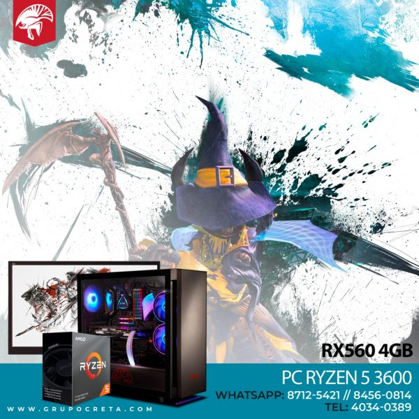 Computadora PC RYZEN 5 3600 - RX 560 4GB