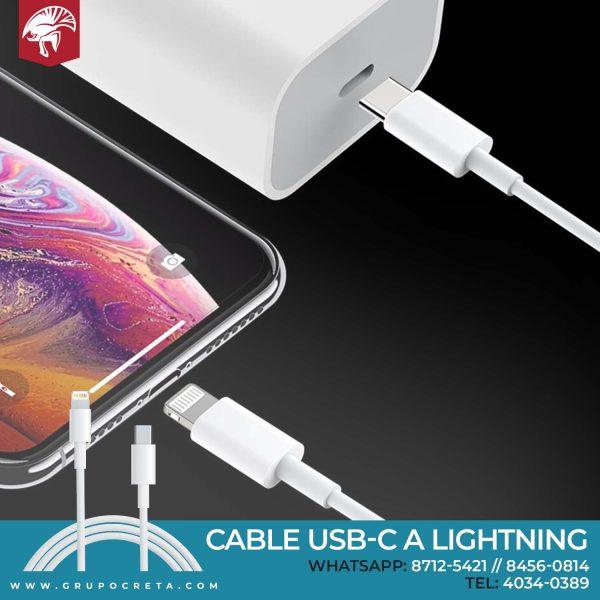 Cable USB-C a Lightning (1 m) Creta Gaming
