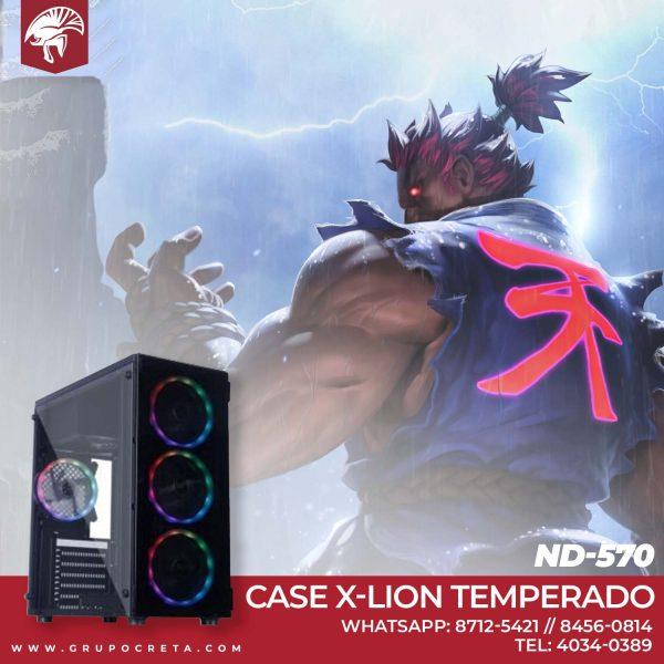 Case X-lion Temperado ND-570 Creta Gaming