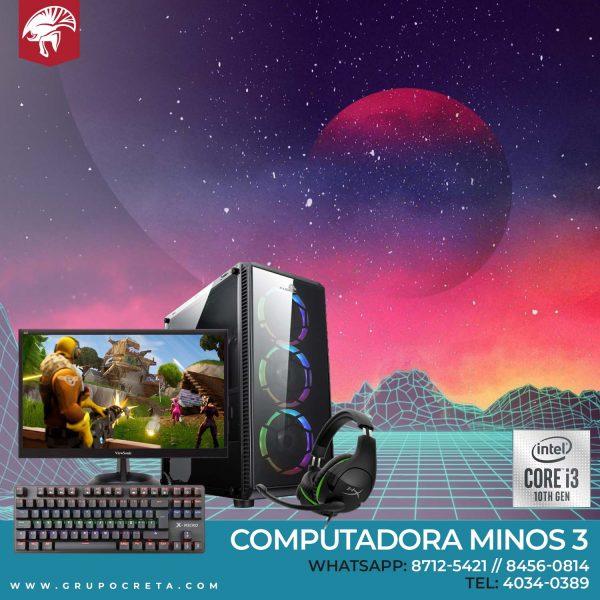 Computadora Minos i3 - Creta Gaming