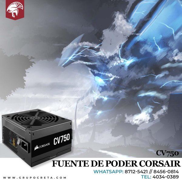 Fuente de poder corsair cv750 Creta Gaming