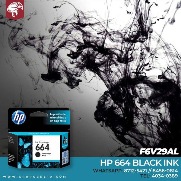 HP 664 Negro Ink Cartridge F6V29AL Creta Gaming