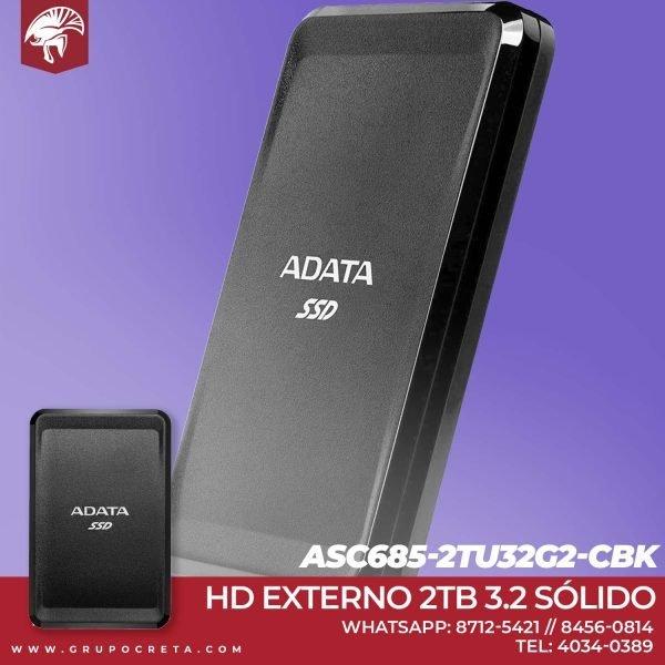 Unidad Externa SC685 ADATA SSD 3.2 Creta Gaming