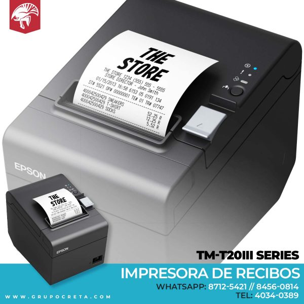 Impresora de recibos Epson tm-t20III Series Creta Gaming
