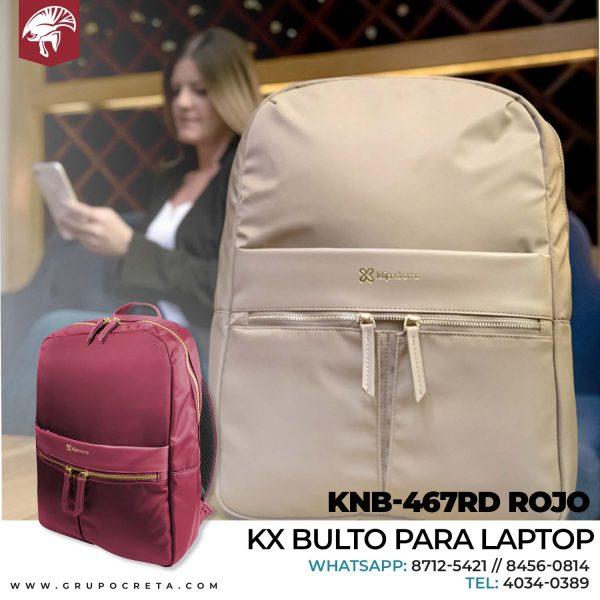 Mochila Klip Xtreme para laptops KNB-467RD ROJO Creta Gaming