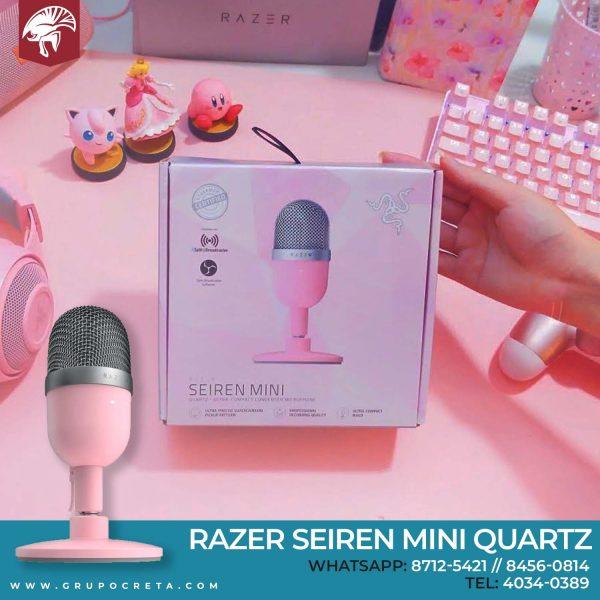 Razer Seiren Mini Quartz-Creta Gaming
