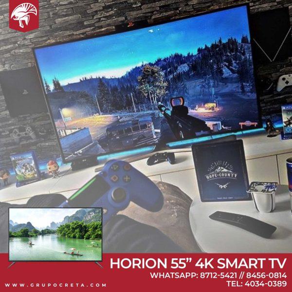Televisor Horion LED 55 pulgadas 4K Smart TV - Creta Gaming