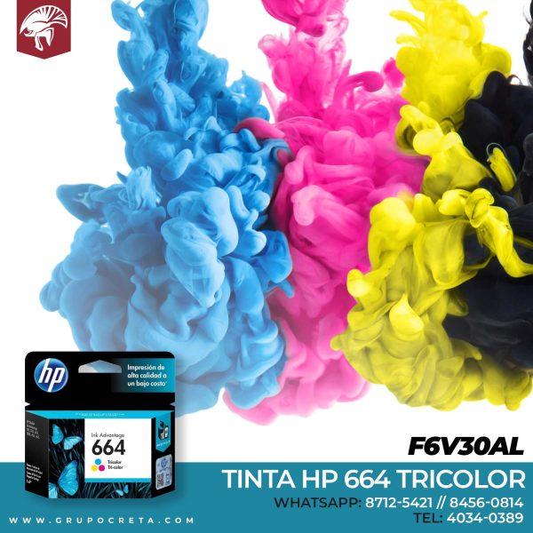Tinta HP 664 Tricolor F6V30AL Creta Gaming
