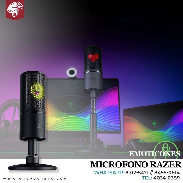 microfono razer emoticones Creta Gaming