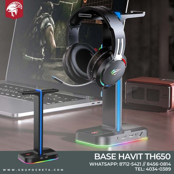 Soporte Doble Para Auriculares HAVIT TH650 RGB Creta Gaming
