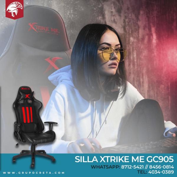 Silla XtrikeMe GC-905 Negro/Rojo Creta Gaming
