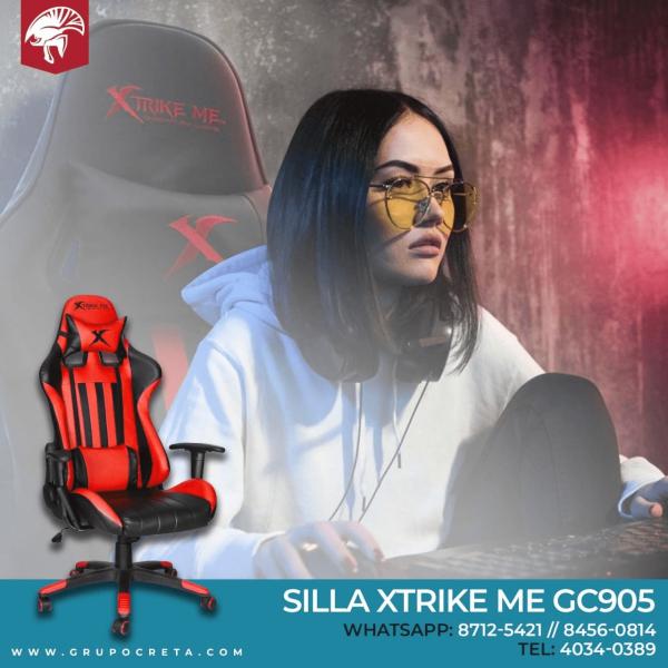 Silla XtrikeMe GC-905 Rojo/Negro Creta Gaming