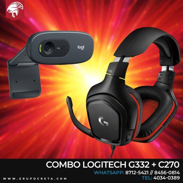 Combo logitech g332 + c270