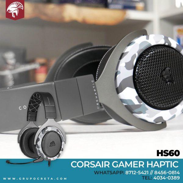 Headset Corsair Gamer Hs60 Haptic Creta Gaming