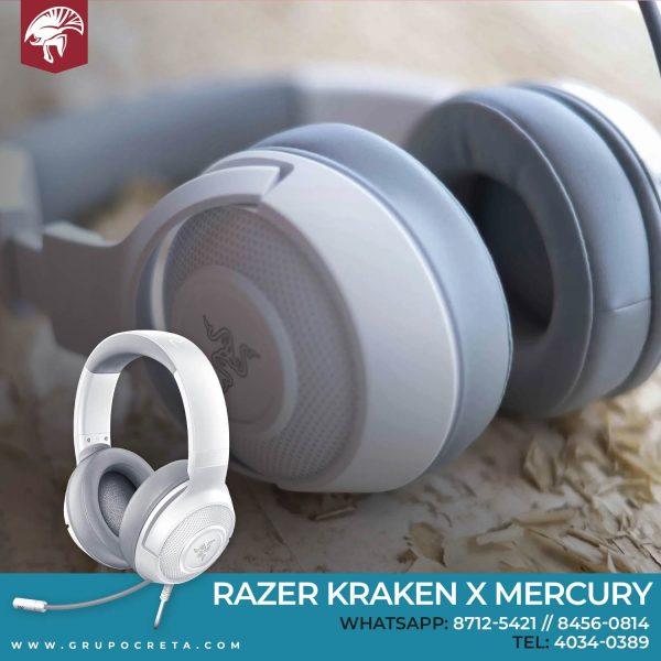 Headset Razer Kraken X Mercury Creta Gaming