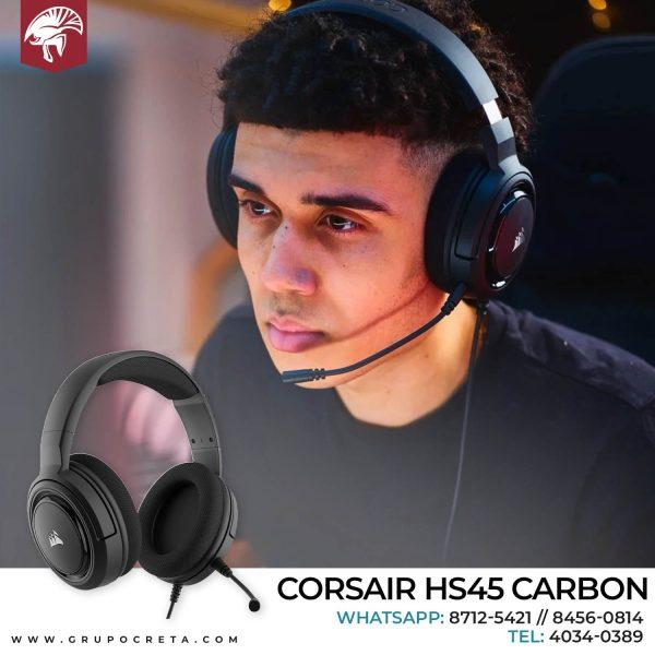 Headset corsair hs45 carbon Creta Gaming
