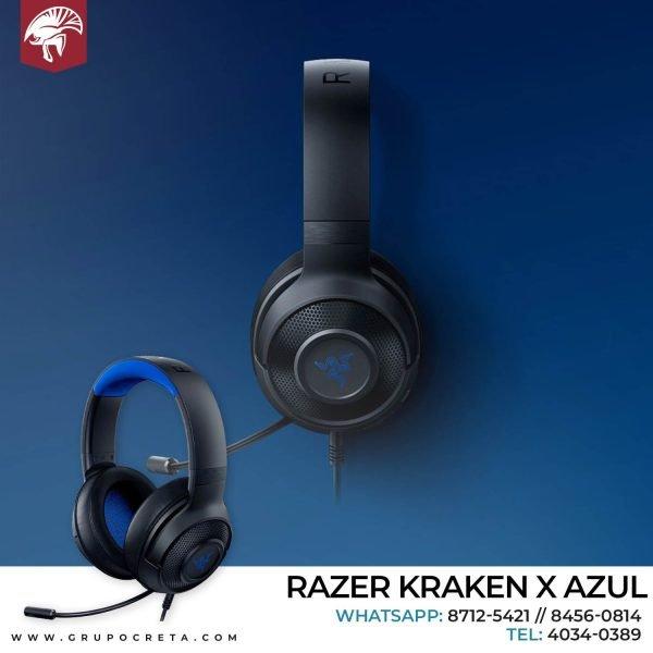 Headset razer kraken x azul Creta Gaming