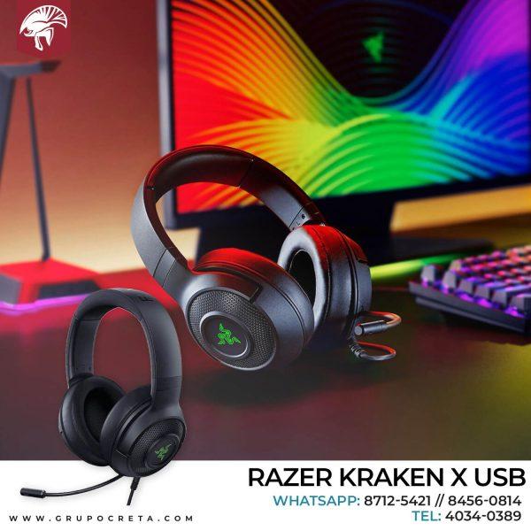 Headset razer kraken x usb negro Creta Gaming