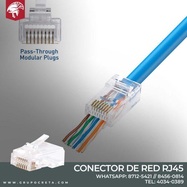 RJ45 conector pass through